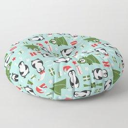 Penguin Party Pattern Floor Pillow