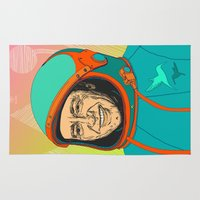 kevin russ Area & Throw Rugs featuring Kevin Spacey by IvaDim
