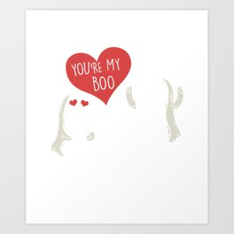 You're My Boo Halloween Scary Ghost Couple Spooky Hallows Eve Ghoul Gifts Art Print