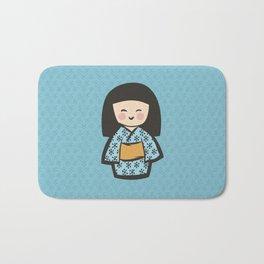 Geisha Dress Code (blue) Bath Mat