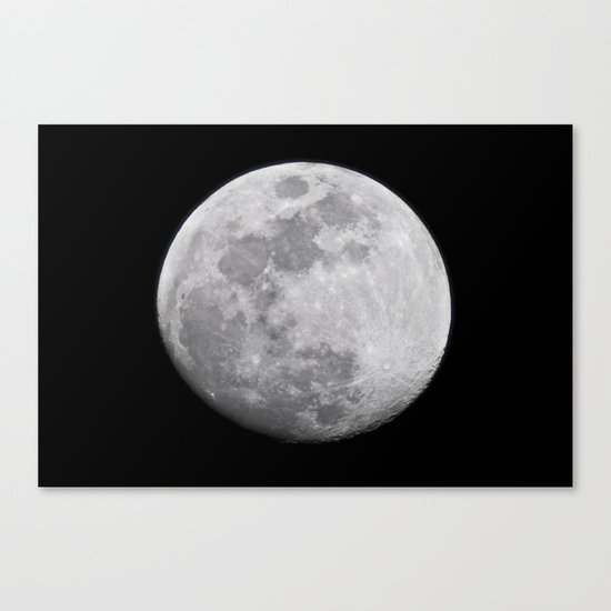 Moon #lunar Canvas Print