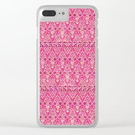 sarasa floral in coral Clear iPhone Case