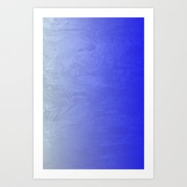 Blue Ice Glow Art Print
