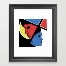 Love in 3 colors Framed Art Print