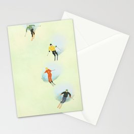Skiing at High Speeds Stationery Cards