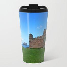Bass Rock from Tantallon Castle, North Berwick, Scotland Travel Mug