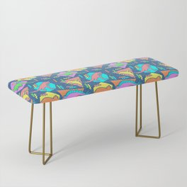 Nineties Dinosaur Pattern Bench