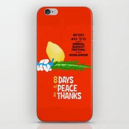 Sukkot Poster iPhone Skin