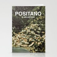 helvetica Stationery Cards featuring Positano & Helvetica by woo made it