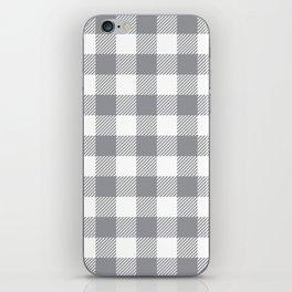 Buffalo Plaid - Grey & White iPhone Skin