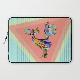 Behind every great man there are women to keep him balanced Laptop Sleeve