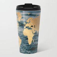 Gold Map in Water Travel Mug