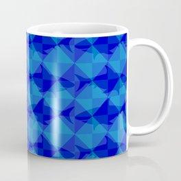 Blue Shark Square. Coffee Mug