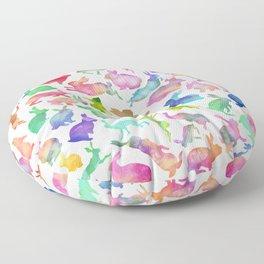 Watercolour Bunnies Floor Pillow