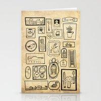 frames Stationery Cards featuring Frames II by Duru Eksioglu