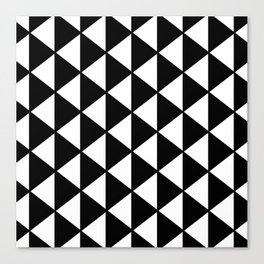 Black And White Triangles Pattern Canvas Print