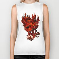 karma Biker Tanks featuring Karma by angrymonk