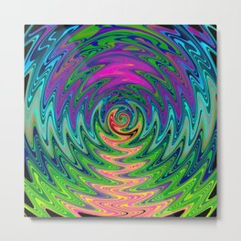 Psychedelic Journey of Colours Metal Print