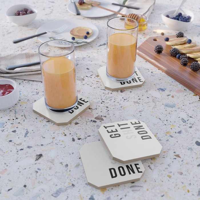 Get Sh(it) Done // Get Shit Done Coaster