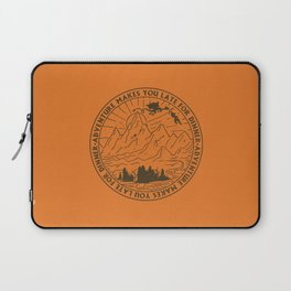 adventure makes you late for dinner x typography Laptop Sleeve