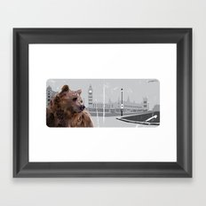 Cityscape Bear Framed Art Print