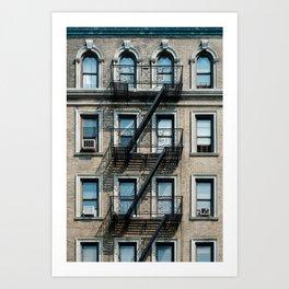 Facades of NY - 01  Art Print