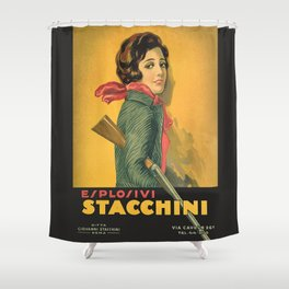 The Explosive Girl - 1929 Shower Curtain