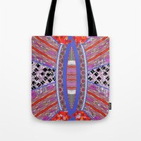 geo Tote Bags featuring GEO by RED ROAD STUDIO