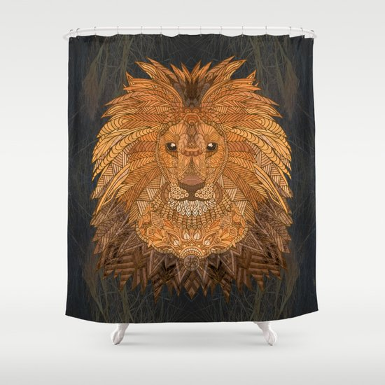 King Lion Shower Curtain By ArtLovePassion