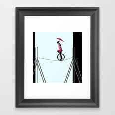 try to keep the balance Framed Art Print