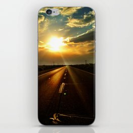 Leaving the sun behind. iPhone Skin