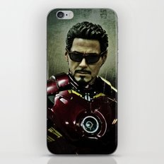 Tony Stark in Iron man costume  iPhone & iPod Skin
