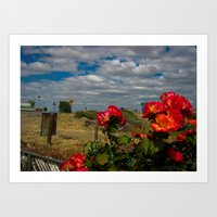 The Charm of the Highway Strip Art Print