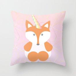 Foxy Unicorn Throw Pillow