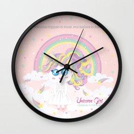 Unicorn Girl Wall Clock