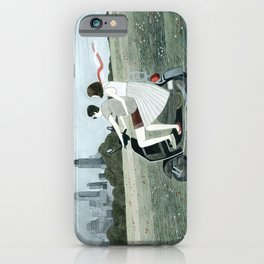 Couple On Scooter iPhone Case