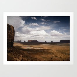 Monument Valley Dramatic Skies Art Print
