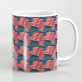 American Flag Pattern Coffee Mug