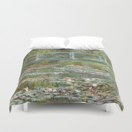Monet, Water Lilies and Japanese Bridge, 1854 Duvet Cover