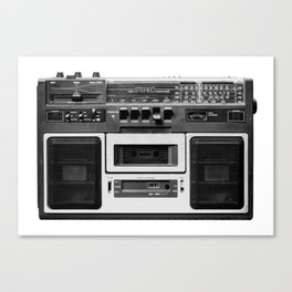 cassette recorder / audio player - 80s radio Canvas Print