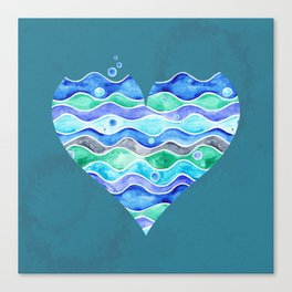 A Sea of Love (blue) Canvas Print