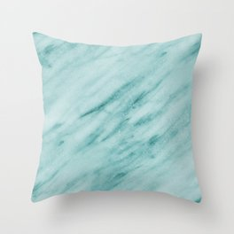 Audace Turchese green marble Throw Pillow
