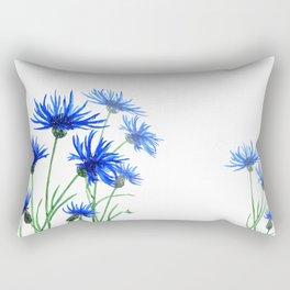 blue cornflower Rectangular Pillow