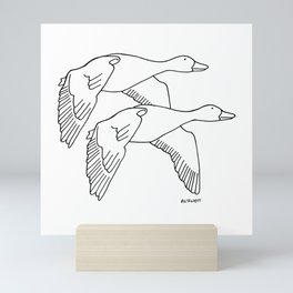 Geese in Flight #2 Mini Art Print