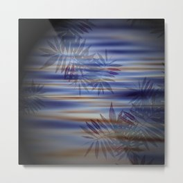 fern lake shadows purple Metal Print