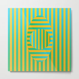 Button Stripe Metal Print