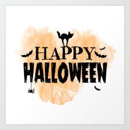 Happy Halloween | Spooky Art Print