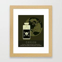 Science Posters - Rachel Carson - Biologist, Conservationist Framed Art Print