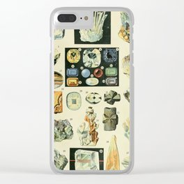 Vintage Minerals Chart Clear iPhone Case
