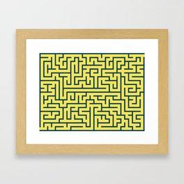 Labyrinth maze n° 17 Framed Art Print
